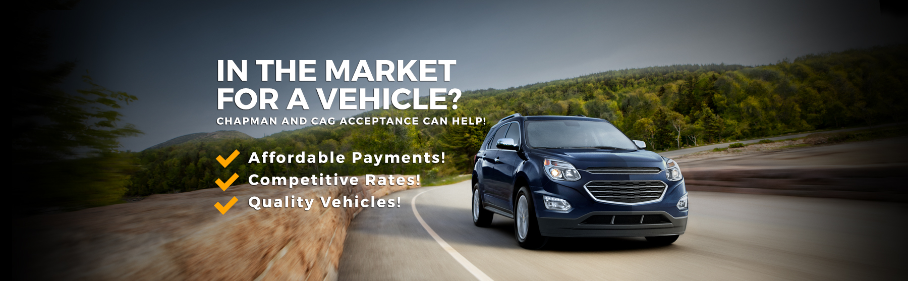In The market for a new vehicle?